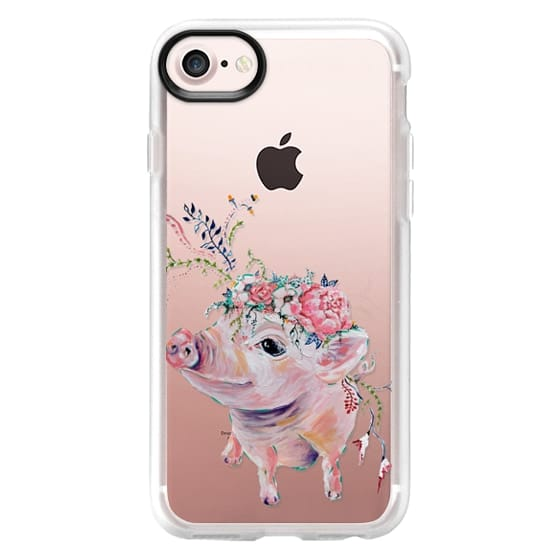 iPhone 7 Cases - Pearl the Pig - Live Sweet Series