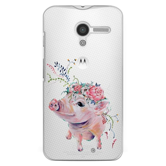 Moto X Cases - Pearl the Pig - Live Sweet Series