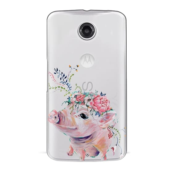 Nexus 6 Cases - Pearl the Pig - Live Sweet Series