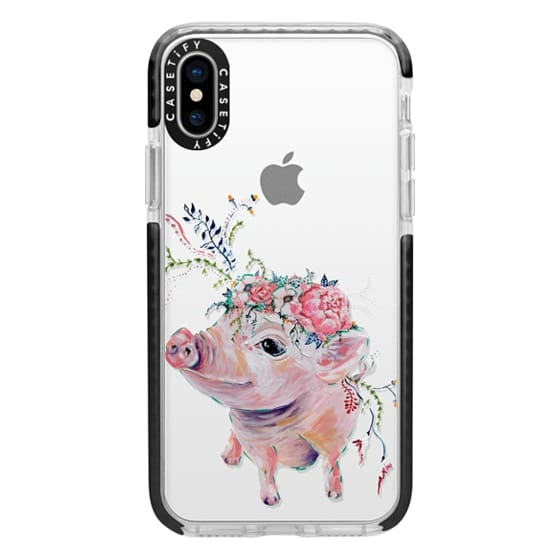 iPhone X Cases - Pearl the Pig - Live Sweet Series