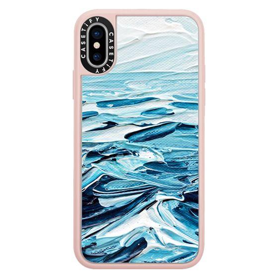iPhone X Cases - Waves Crashing