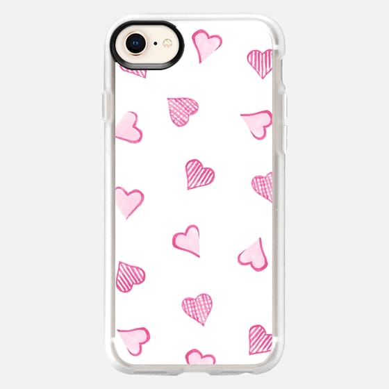Pink Hearts - Snap Case