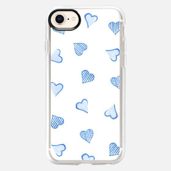 Blue Hearts - Snap Case