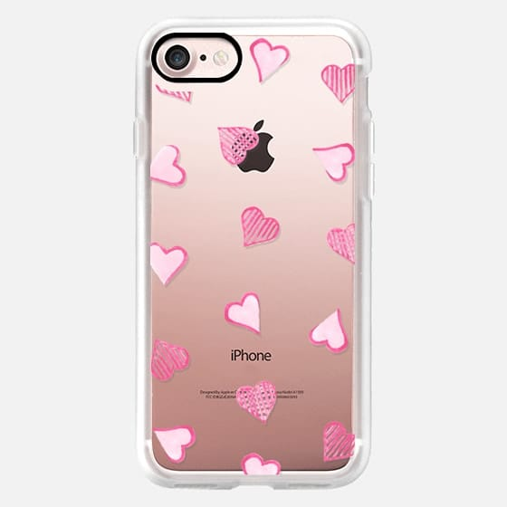 Pink Hearts Clear -