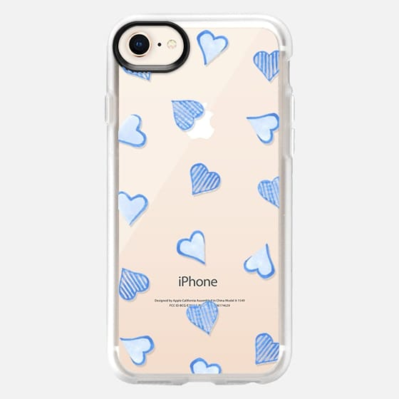 Blue Hearts Clear - Snap Case