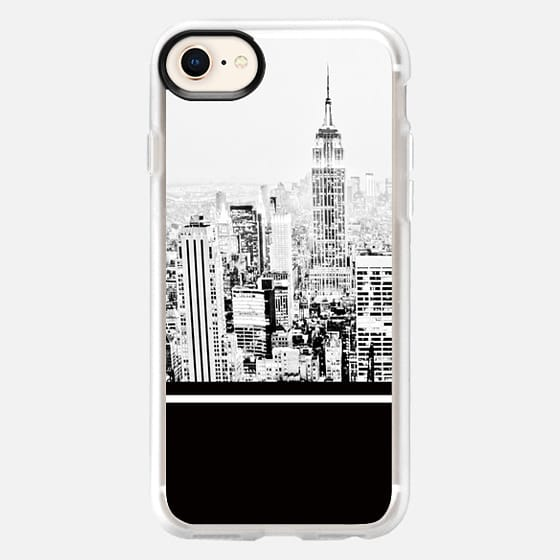BLACK AND WHITE CITY COLOR BLOCK GRAPHIC OFFICE BUILDINGS NEW YORK MASCULINE DAD MEN - Snap Case