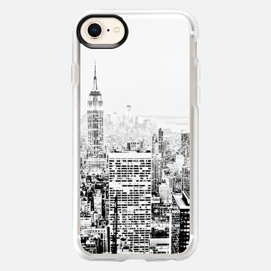 BLACK AND WHITE CITY GRAPHIC OFFICE BUILDINGS NEW YORK MASCULINE DAD MEN - Snap Case