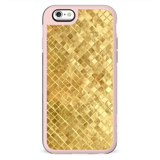 PRETTY FAUX GOLD MINI MOSAIC BOHO PATTERN BEAUTIFUL GIRLY TEXTURE SHINY ELEGANT