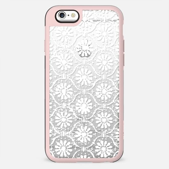 VINTAGE LACE TRANSPARENT WHITE  FLORAL DAISIES PRETTY ELEGANT GIRLY FESTIVAL BOHO - New Standard Case