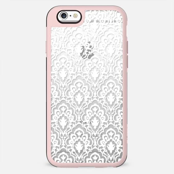 TRANSPARENT ANTIQUE LACE WHITE  FLORAL PRETTY ELEGANT GIRLY FESTIVAL BOHO - New Standard Case