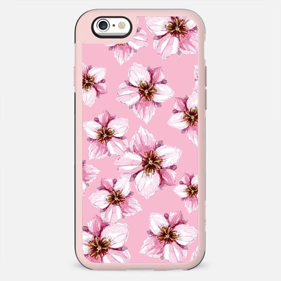 WATERCOLOR APPLE BLOSSOMS ON PASTEL PINK BOHO FESTIVAL TROPICAL BRIDE MOM PRETTY GIRL BOSS - New Standard Case