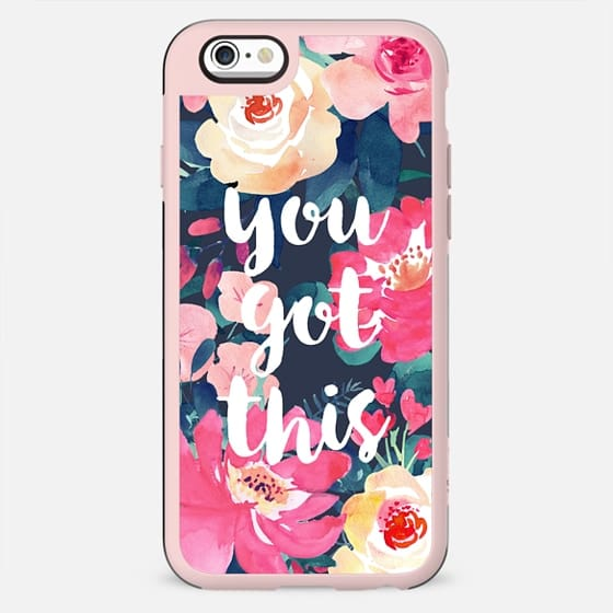 WATERCOLOR ROSES - YOU GOT THIS PINK BLUSH FESTIVAL BEAUTIFUL PRETTY SPRING SUMMER GIRL BOSS