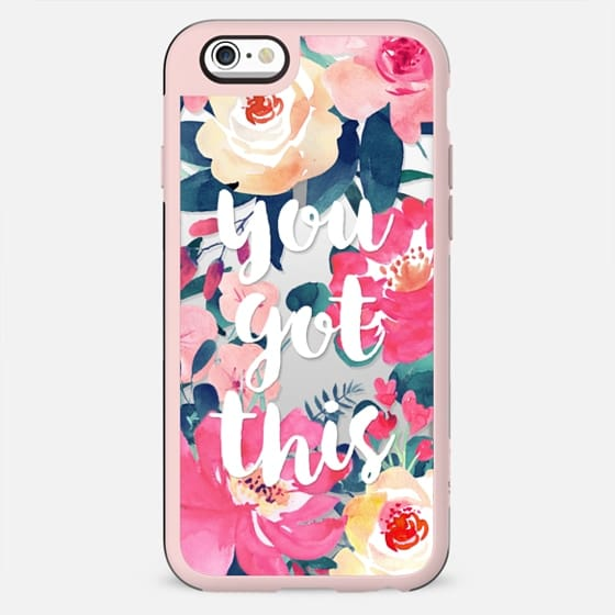 WATERCOLOR ROSES - TRANSPARENT YOU GOT THIS PINK BLUSH FESTIVAL BEAUTIFUL PRETTY SPRING SUMMER GIRL BOSS - New Standard Case
