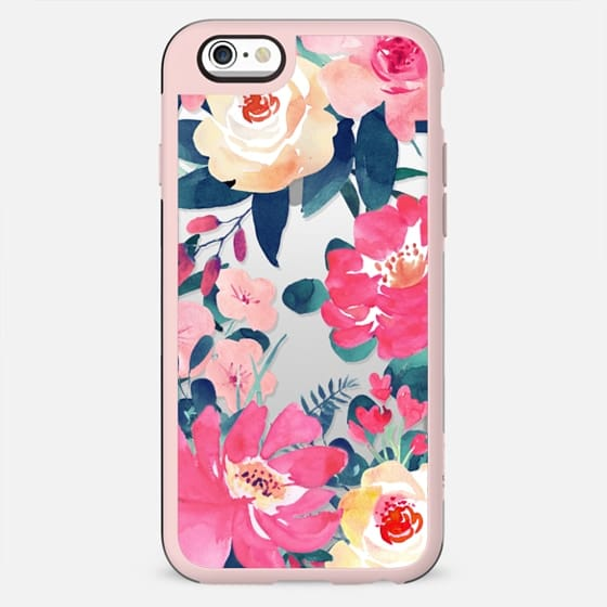WATERCOLOR ROSES - TRANSPARENT PINK BLUSH FESTIVAL BEAUTIFUL PRETTY SPRING SUMMER MOTHER BRIDE - New Standard Case