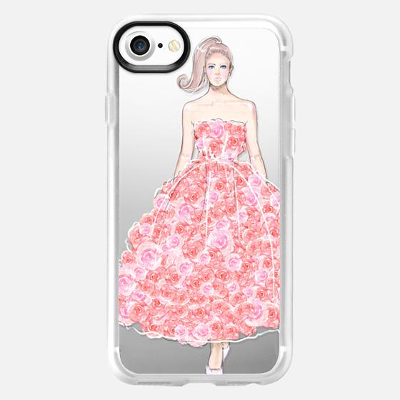 pink rose dress - Classic Grip Case