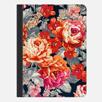 iPad Air 2 ケース Red Flowers