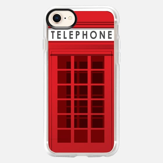 Red telephone box - Snap Case