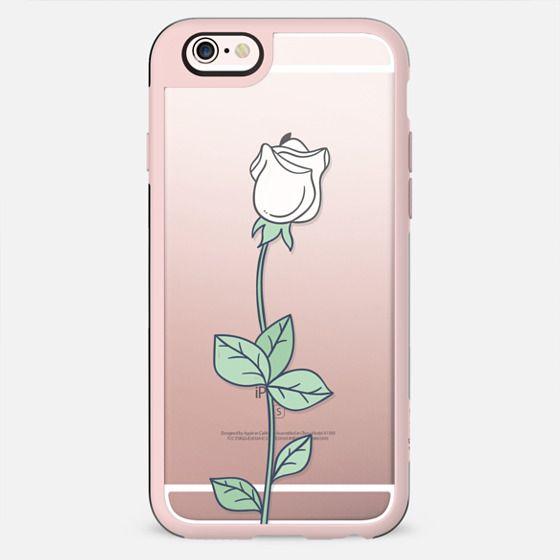 single white rose - New Standard Case