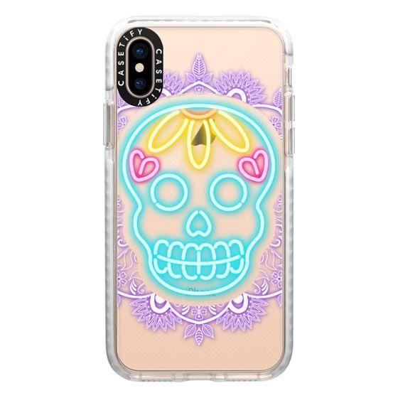 iPhone XS Cases - Neon Skull