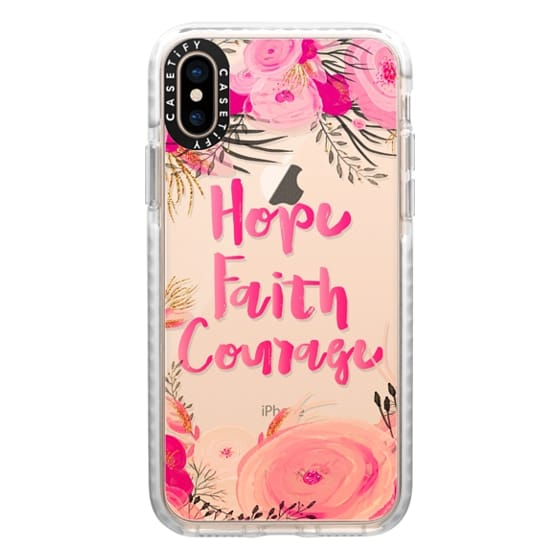 iPhone XS Cases - Hope Faith Courage