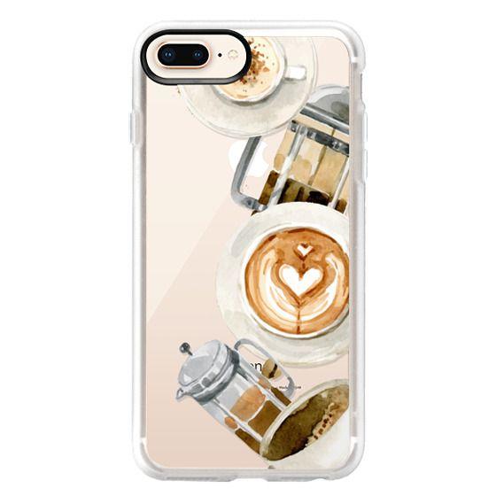 iPhone 8 Plus Cases - Coffee