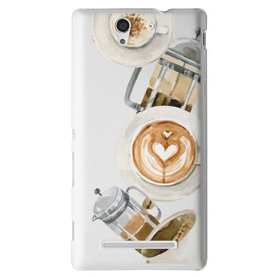 Sony C3 Cases - Coffee