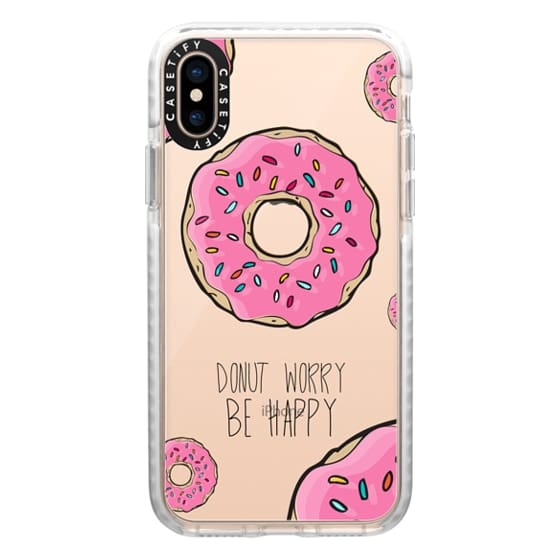 iPhone XS Cases - Donut Worry, Be Happy