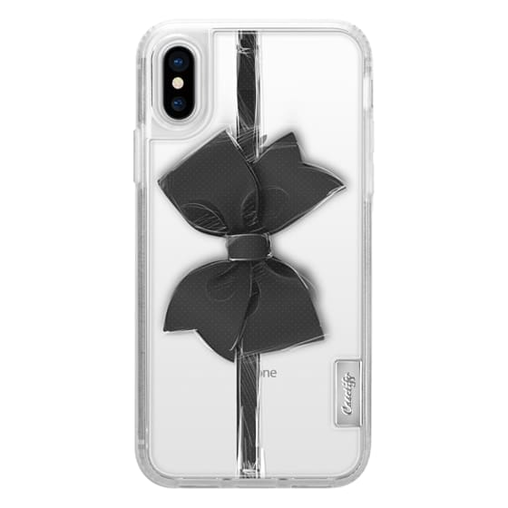 iPhone X Cases - Black Bow