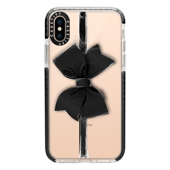 iPhone XS Cases - Black Bow