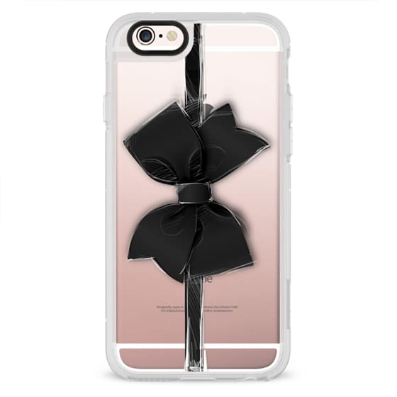 iPhone 4 Cases - Black Bow