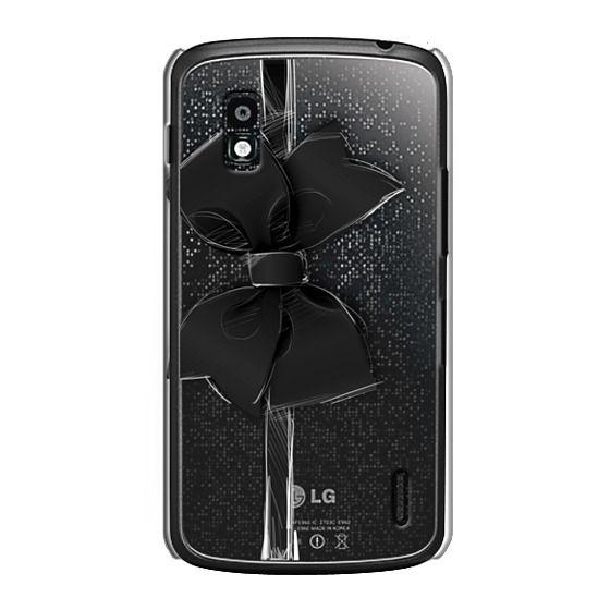 Nexus 4 Cases - Black Bow