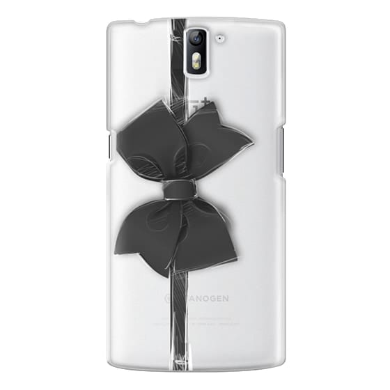 One Plus One Cases - Black Bow