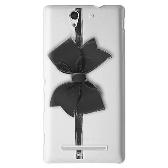 Sony C3 Cases - Black Bow
