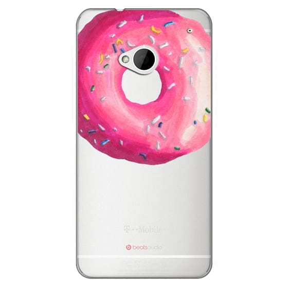 Htc One Cases - Pink Glaze Donut
