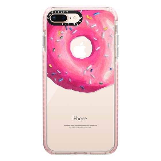 iPhone 8 Plus Cases - Pink Glaze Donut