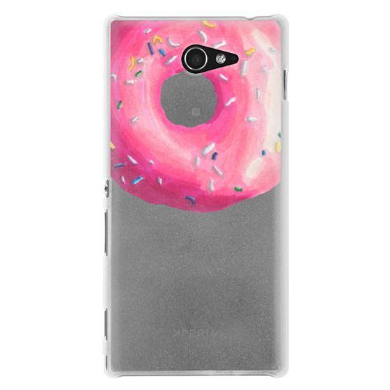 Sony M2 Cases - Pink Glaze Donut
