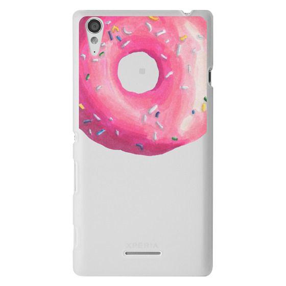 Sony T3 Cases - Pink Glaze Donut