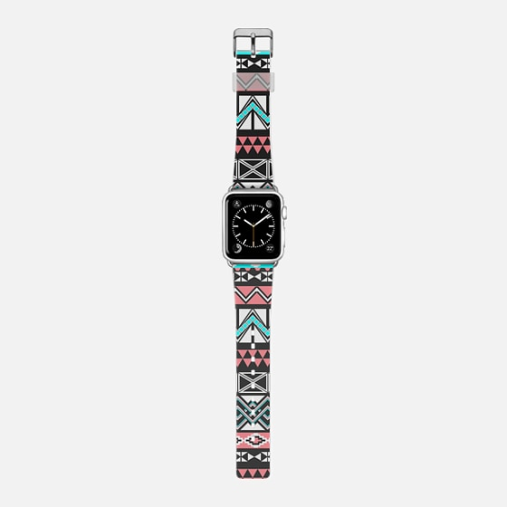 Girly Modern Tribal Aztec Pattern in Blue and Pink -