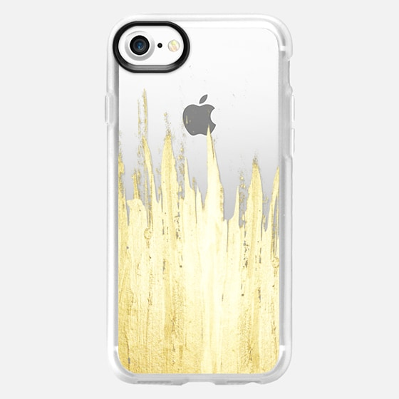 Paint Strokes on Transparent Background- Gold Edition - Wallet Case