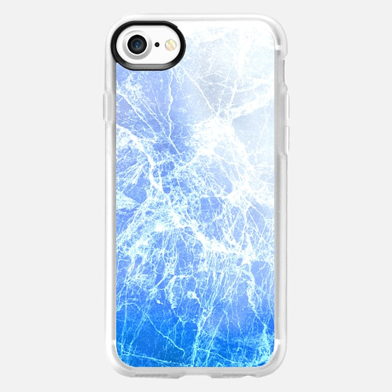Cool Blue Abstract Cracked Ice Pattern - Wallet Case