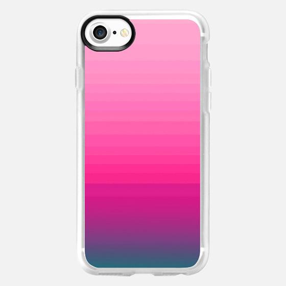 Modern Trendy Purple Blue Teal Pink Ombre Gradient Pattern  - Wallet Case