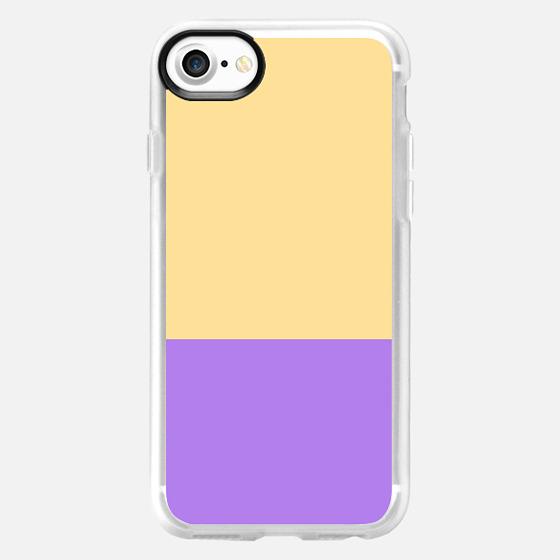 Pastel Yellow Purple Simple Modern Color Block  -