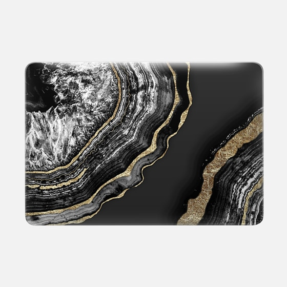 Agate Black and Faux Gold