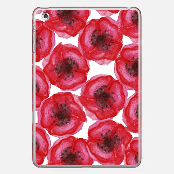 Elegant Hand Painted Watercolor Red Poppies Flowers - Photo Cover