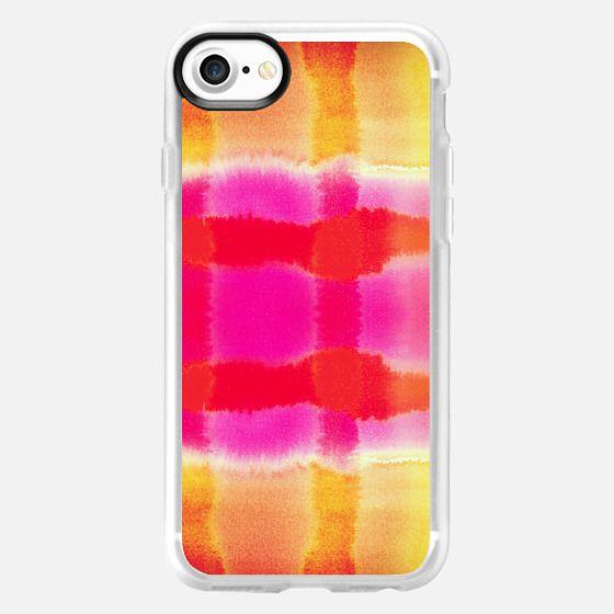 Summer Orange and Pink Watercolor Tie Dye Paint Pattern -