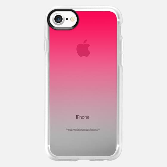 Simple Trendy Hot Neon Pink to Transparent Gradient -