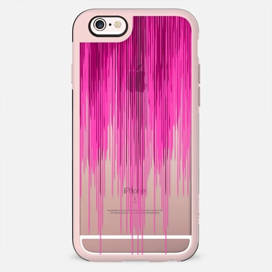 Pink Gradient Watercolor Paint Drips on Transparent - New Standard Case