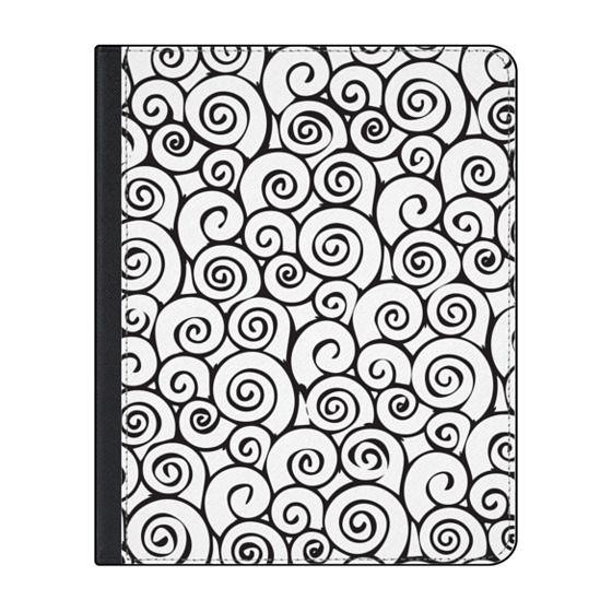 Simple Black White Swirl Wave Pattern Casetify