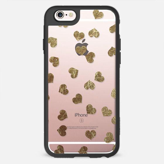 Faux Gold Hearts Pattern - New Standard Case