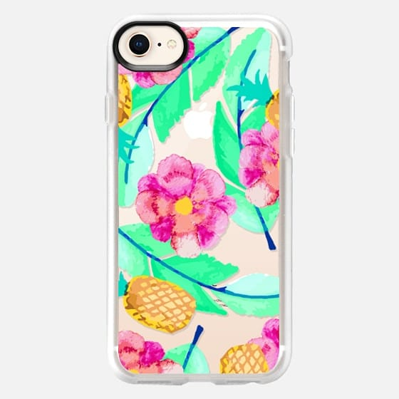 Modern Flower Pineapple Foliage Colorful Pattern - Snap Case